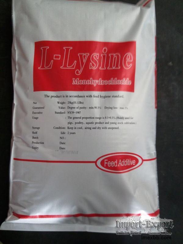 Export L-lysine 70% and 98.5%