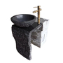 Round Wash Basin, Black Marquina