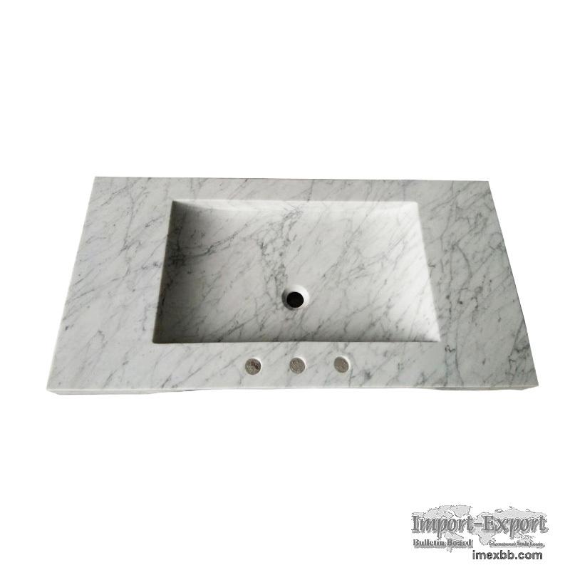 Rectangular Wash Basin, Bianco Carrara