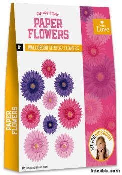 EASY WAY TO MAKE PAPER FLOWER-WALL DÉCOR GERBERA FLOWERS