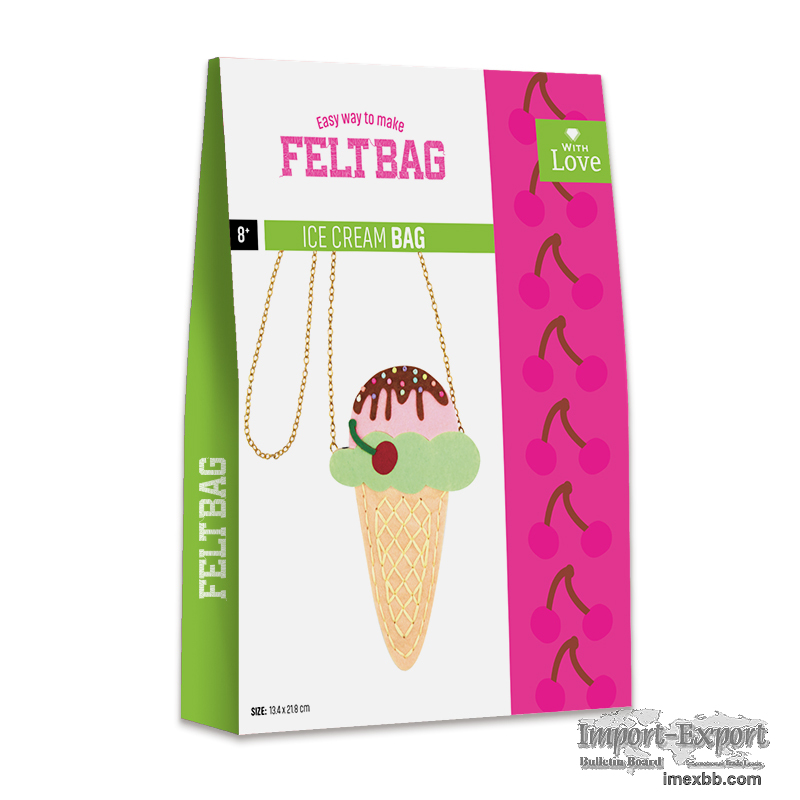 EASY WAY TO MAKE  FELT BAG-ICE CREAM BAG