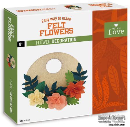 EASY WAY TO MAKE FELT FLOWERS - FLOWER WREATH