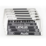 American stainless steel carbon fiber license plate frame