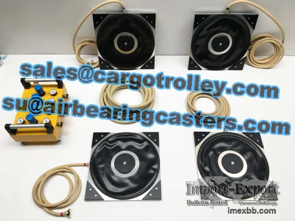 Air bearing casters is working flexible and conveniently