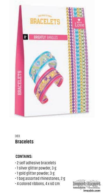 EASY WAY TO MAKE BRACELETS-BRIGHTLY BANGLES