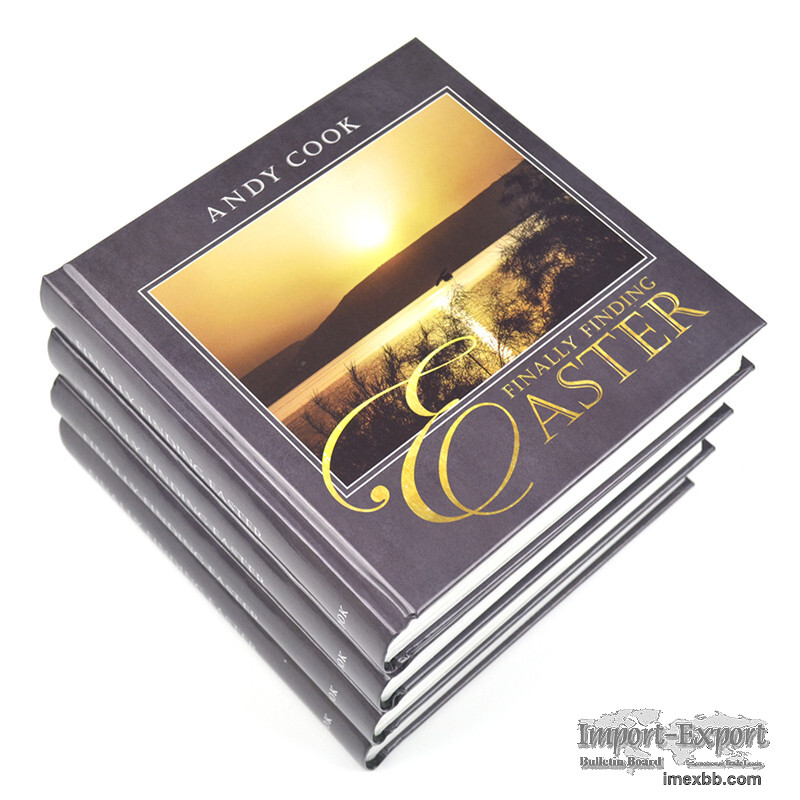 High quality hardcover book printing service at low price