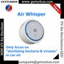 AirWhisper mini portable car air sterilizer uv sterilizer air purifier