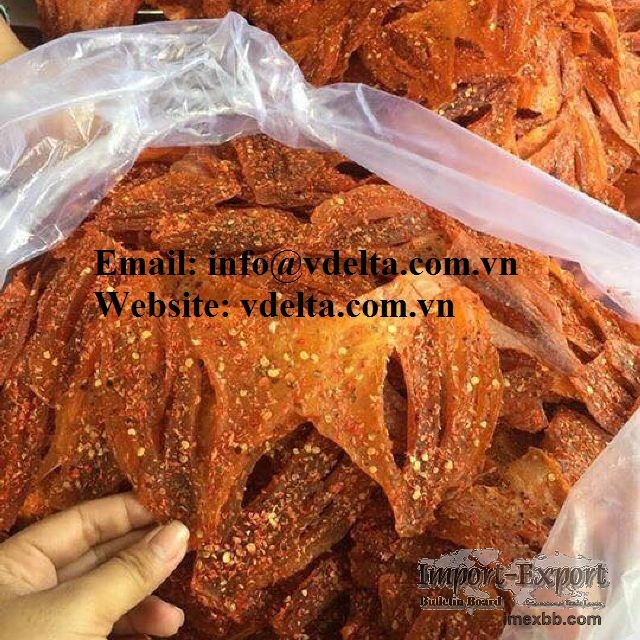 Vietnamese farmed seafood export dry red tilapia fish