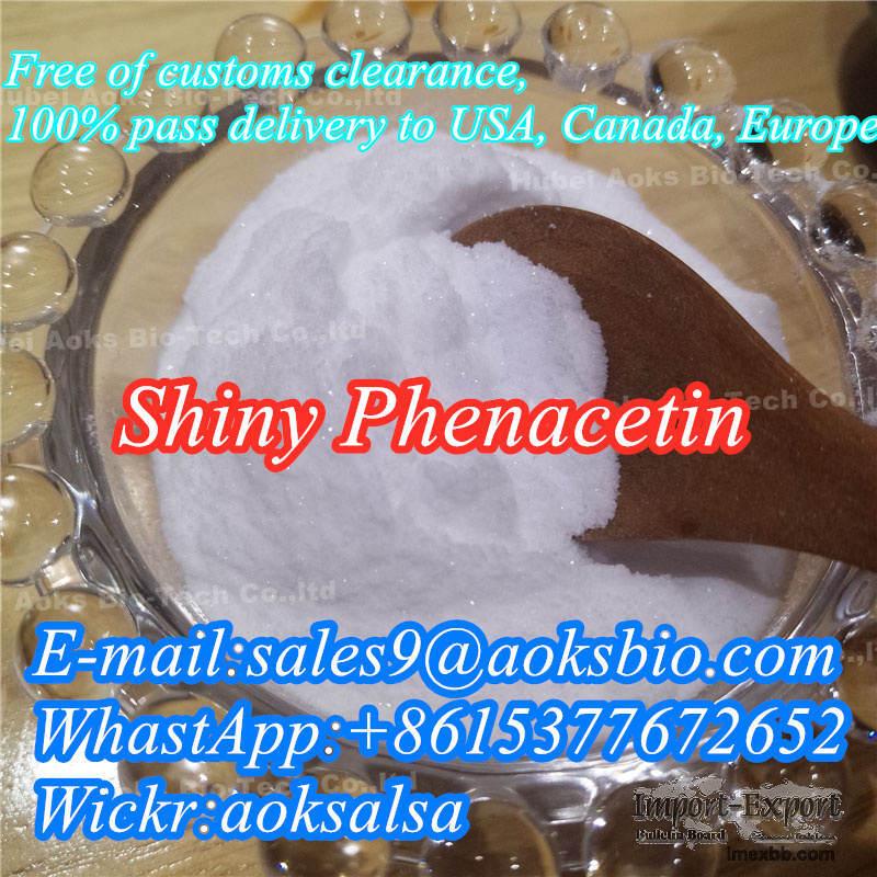 China best phenacetin for sale,cas 62-44-2 shiny fluffy phenacetin powder
