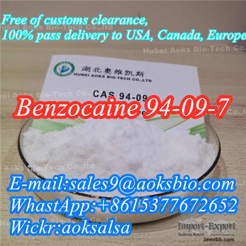 Benzocaine powder cas 94-09-7 benzocaine China factory supply best price