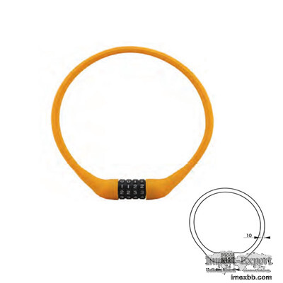 Silicone Combination Lock 84634   Bicycle Lock Manufacturer
