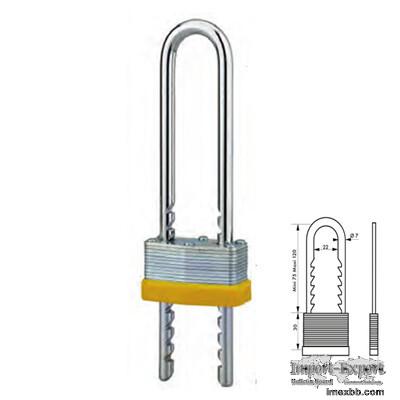 Laminated Steel Padlock with Adjustable Shackle