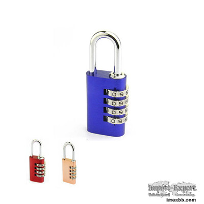 Aluminium Oval Shape Combination Padlock- 4 Wheels