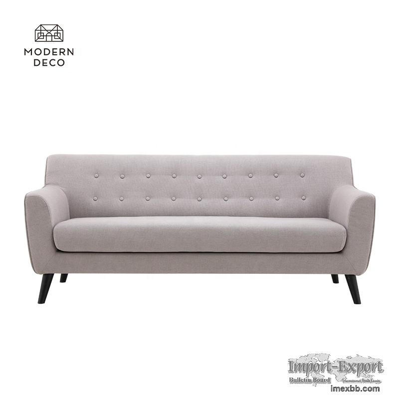 scandinavian design 3 seater fabric sofa modern grey nordic european 2021