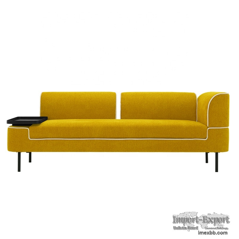 modern fabric sofa with removable back and arms detachable