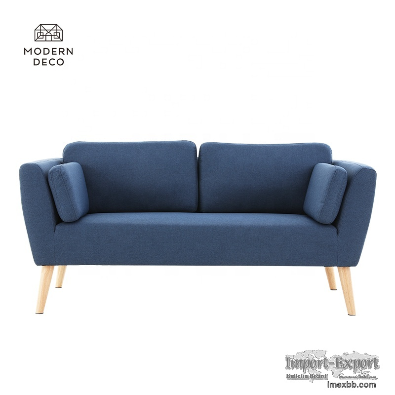navy blue small sofa couch loveseat for apartment bedroom 2021