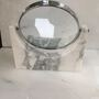 Double-sided Mirror with Marble Base, Staturio or Calacatta