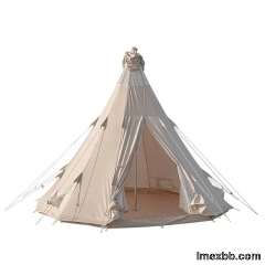 5m Canvas Teepee Tent    canvas tent waterproofing