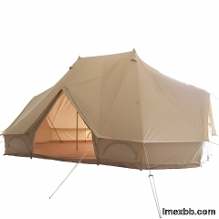 6x4m Luxury Glamping Emperor Bell Tent   Luxury Canvas Tent supplier