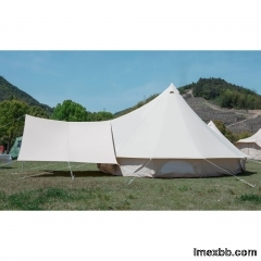 Bell Tent With Stove Jack,Awning   waterproof Canvas Tent price