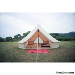 5m Canvas Bell Tent With Double Door  5m Teepee Canvas Tent