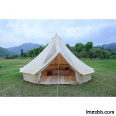 5m Canvas Bell Tent With Pvc Roof    Custom canvas bell tent