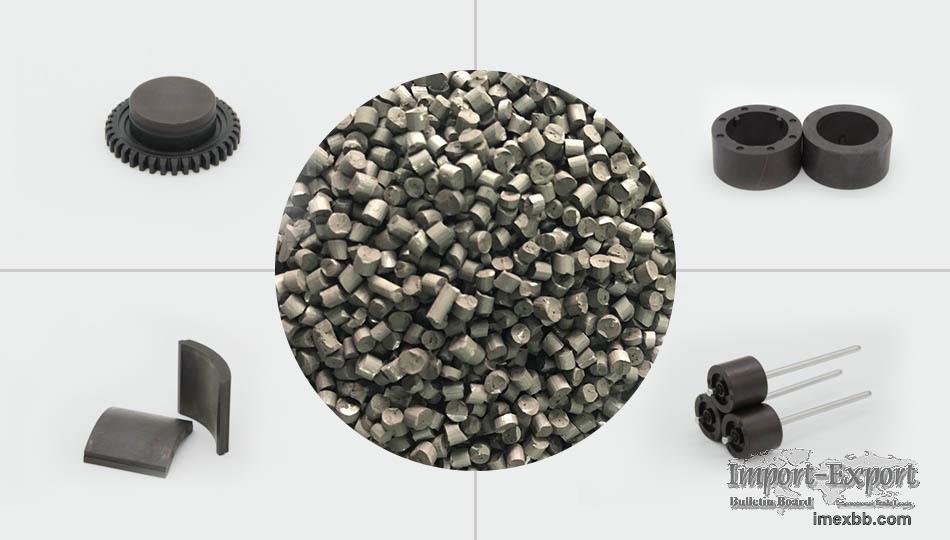 Bonded SmFeN Magnetic Compounds