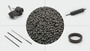 Hard-Ferrite Bonded Magnetic Compounds