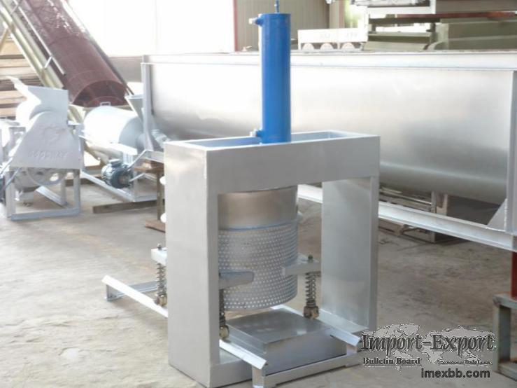 Hydraulic Dewatering Press
