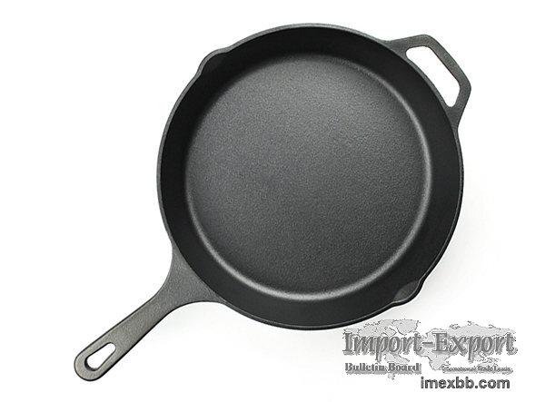 Hot sale 12 inch Cast Iron Skillet Fry Pan, wholesale cast iron cookware, p