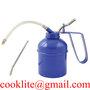 Steel Lubricant Oil Can 500ML Heavy Duty Oiler With Flexible Spout