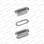 Shoe metal accessories.Eyelets with washer,Oval eyelets with washers OVL