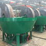 China wet pan mill double wheel gold washing pan for gold ore sale