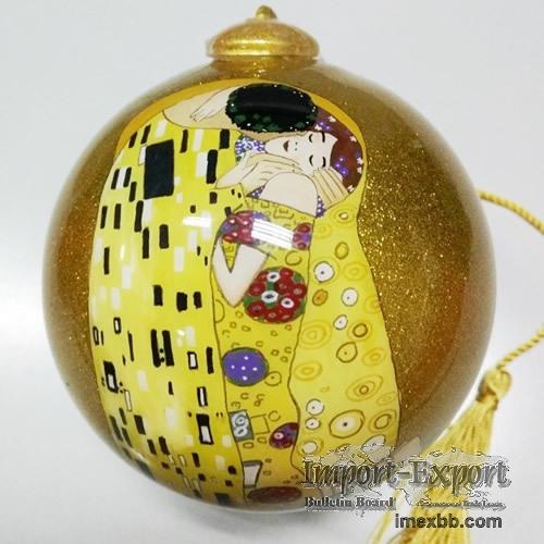 Inside Painted Glass Christmas Ball