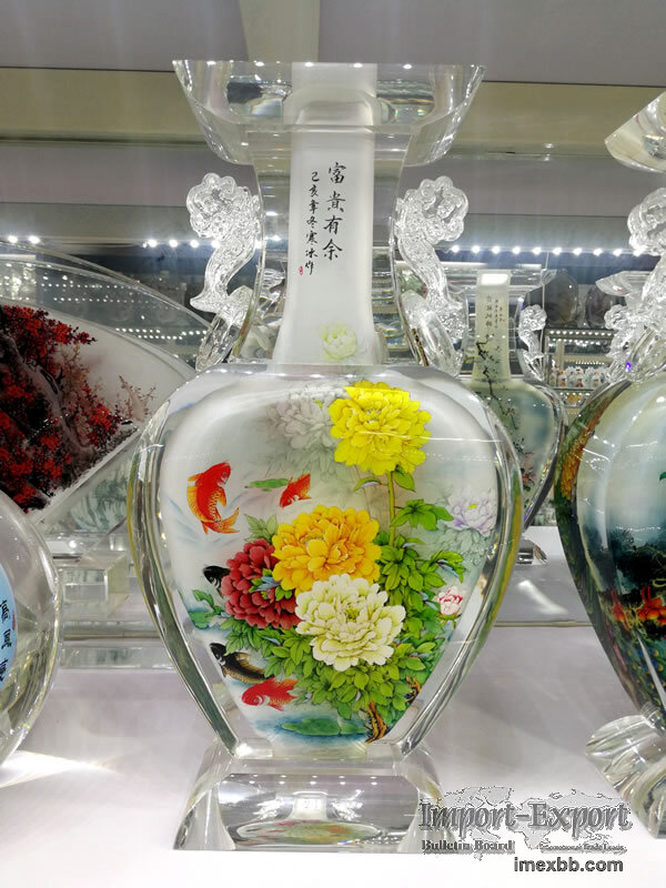 Luxury Home Décorations, Hand Painted Glass Arts Ornaments
