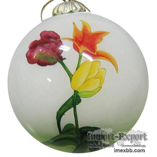 Hand-Painted Glass Christmas Ball
