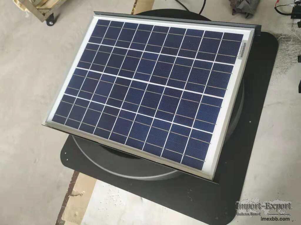 Solar Attic Fan Solar 20 Watt Solar-Powered Roof Mounted with Quiet Brushle