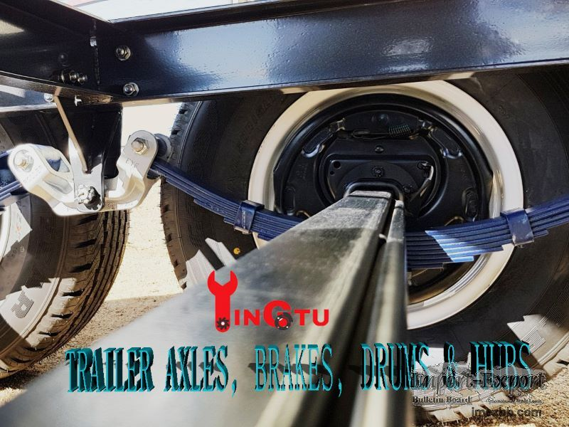 """Trailer tandem axles with 10"""" electric brake assemblies"""