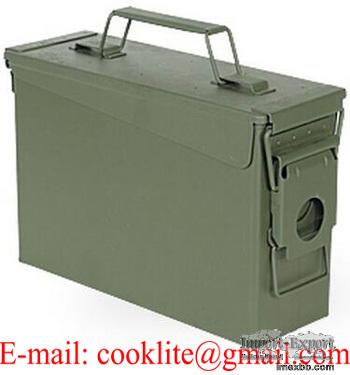 Caisse à munitions US petit modèle Boîte etanche métallique type valise mun