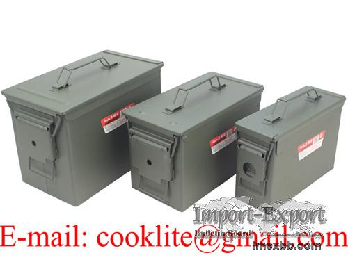 Caja de municiones metalica / Caja militar de municiones - M19A1/M2A1/PA108