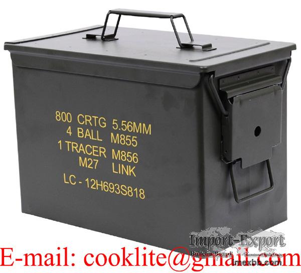 Cassetta munizioni in metallo / Scatola munizioni in metallo - PA108 Fat 50