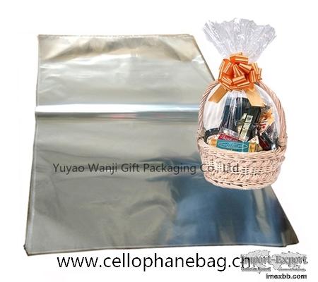 Clear cello Basket bags jumbo OPP gift bag hampers bags