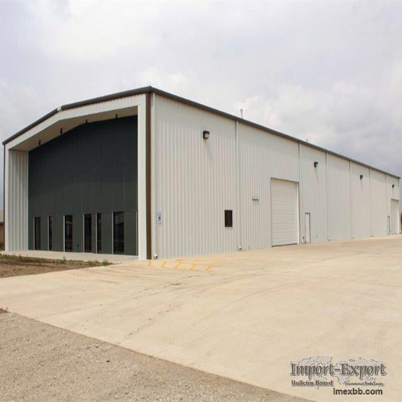 steel structure warheouse used for hangar, barn, garage, workshop