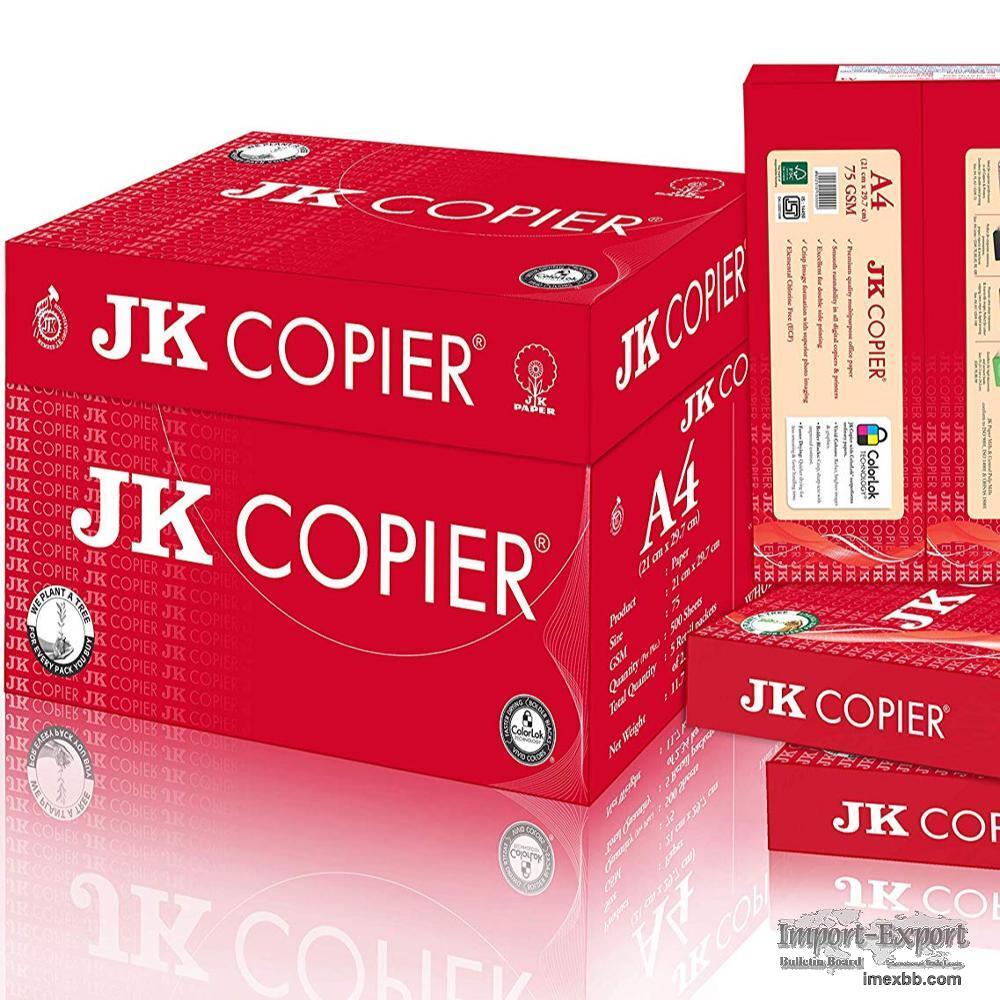 JK copier A4 Multipurpose Premium Paper 500 sheets Double A Copy Paper A4 8