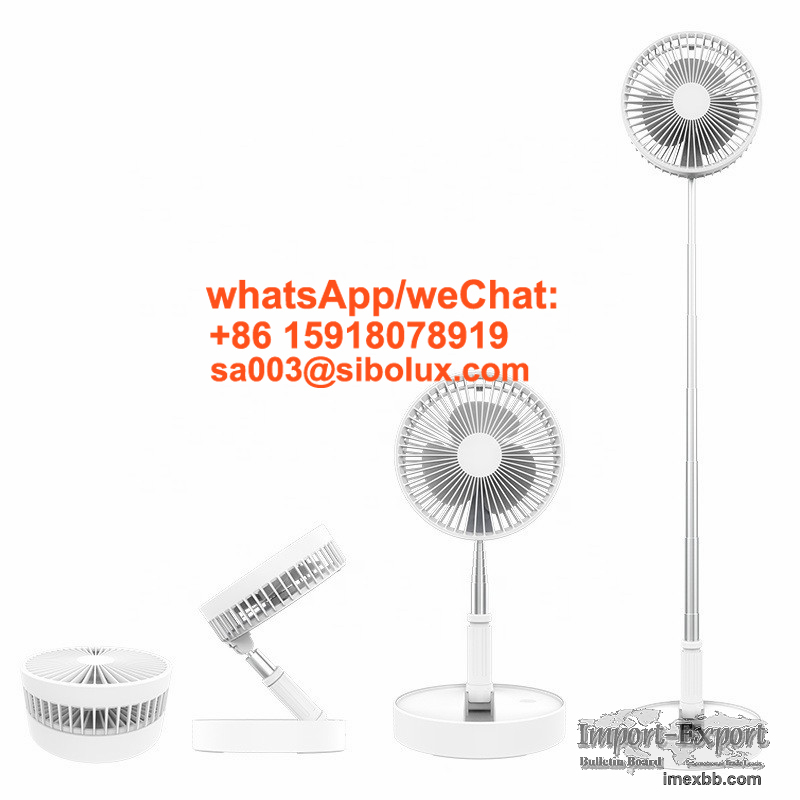 Mini Portable foldable USB Fast Charging Stand Electric telescopic fans