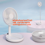 mini portable USB Fast Charging Stand Rechargeable Fold Telescopic fan