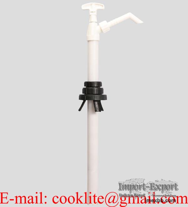 Bomba manual de acción vertical en Nylon usada para trasegar químicos, ácid