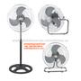 18 inch 3 in 1 industrial pedestal fan/ wall fan/stand fan/floor fan