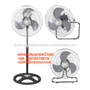 18 inch 3in1 electric industrial pedestal fan/ wall fan/stand fan/floor fan