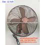 12 inch deluex vintage metal wall fan